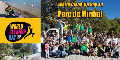 World Clean-Up Day au Parc de Miribel