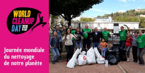World Clean-Up Day : sur les bords de Saône